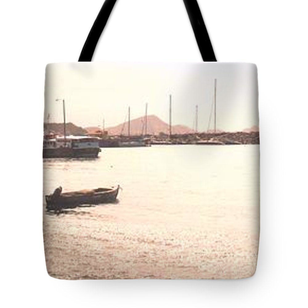 St Kitts Tote Bag featuring the photograph Basseterre Harbour by Ian MacDonald