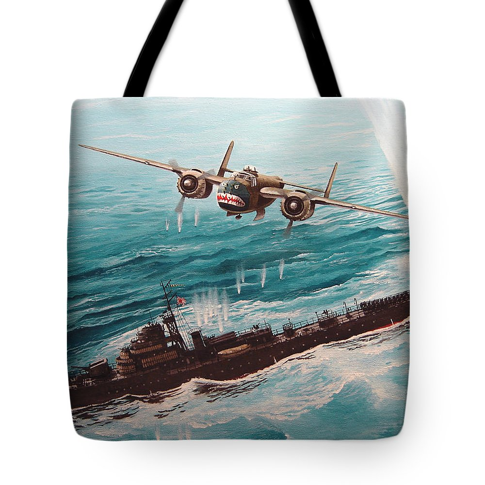 Military Tote Bag featuring the painting Bat Outta Hell by Marc Stewart