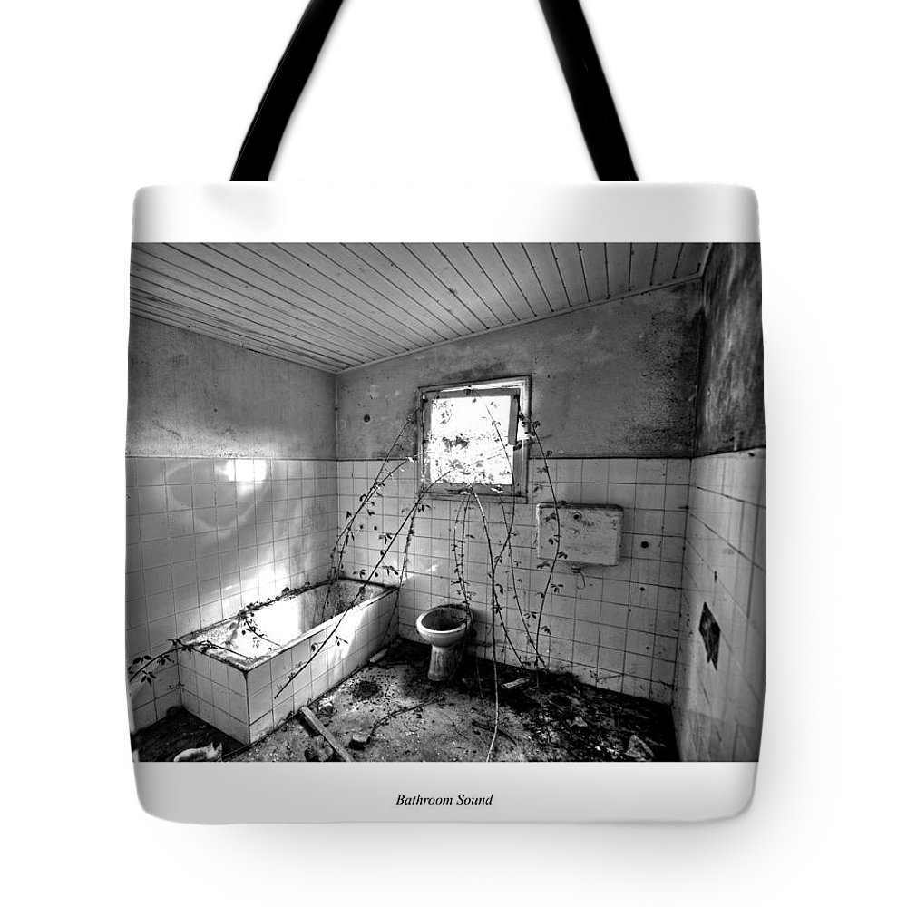 Over Tote Bag featuring the photograph Bathroom Sound by Joseph Amaral