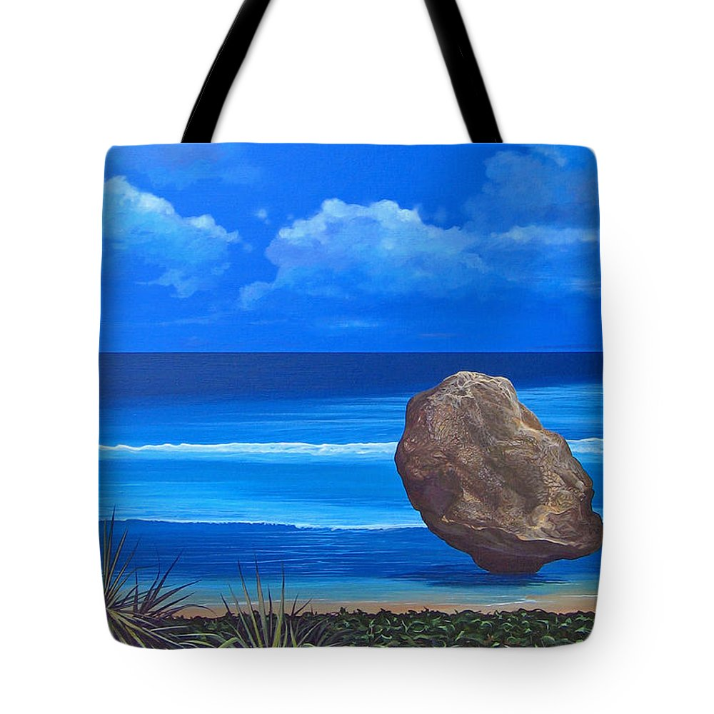 Barbados Tote Bag featuring the painting Bathsheba by Hunter Jay