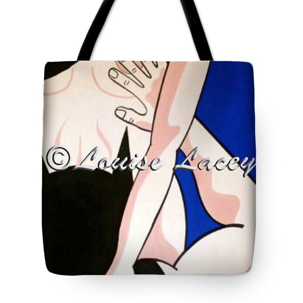batman and catwoman xxx blue tote bag for salelouise lacey