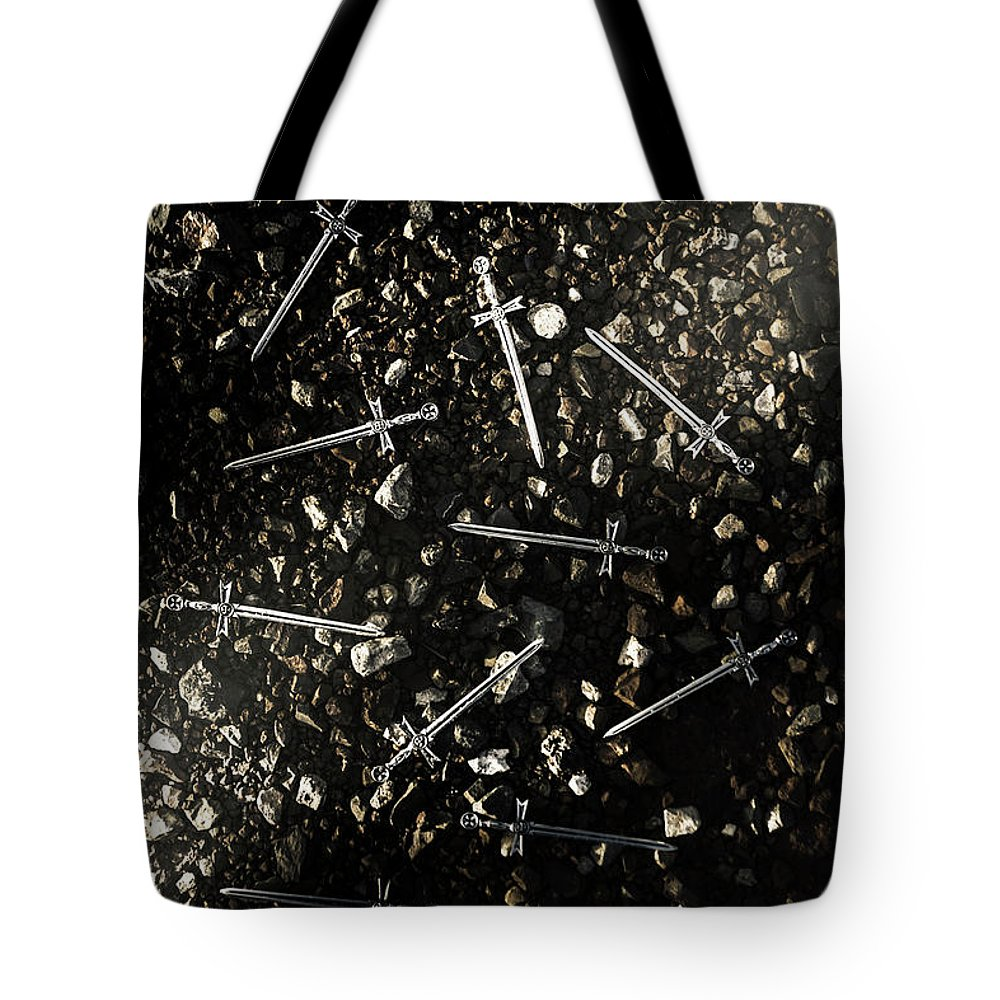 Blade Tote Bag featuring the photograph Battle Blades by Jorgo Photography - Wall Art Gallery
