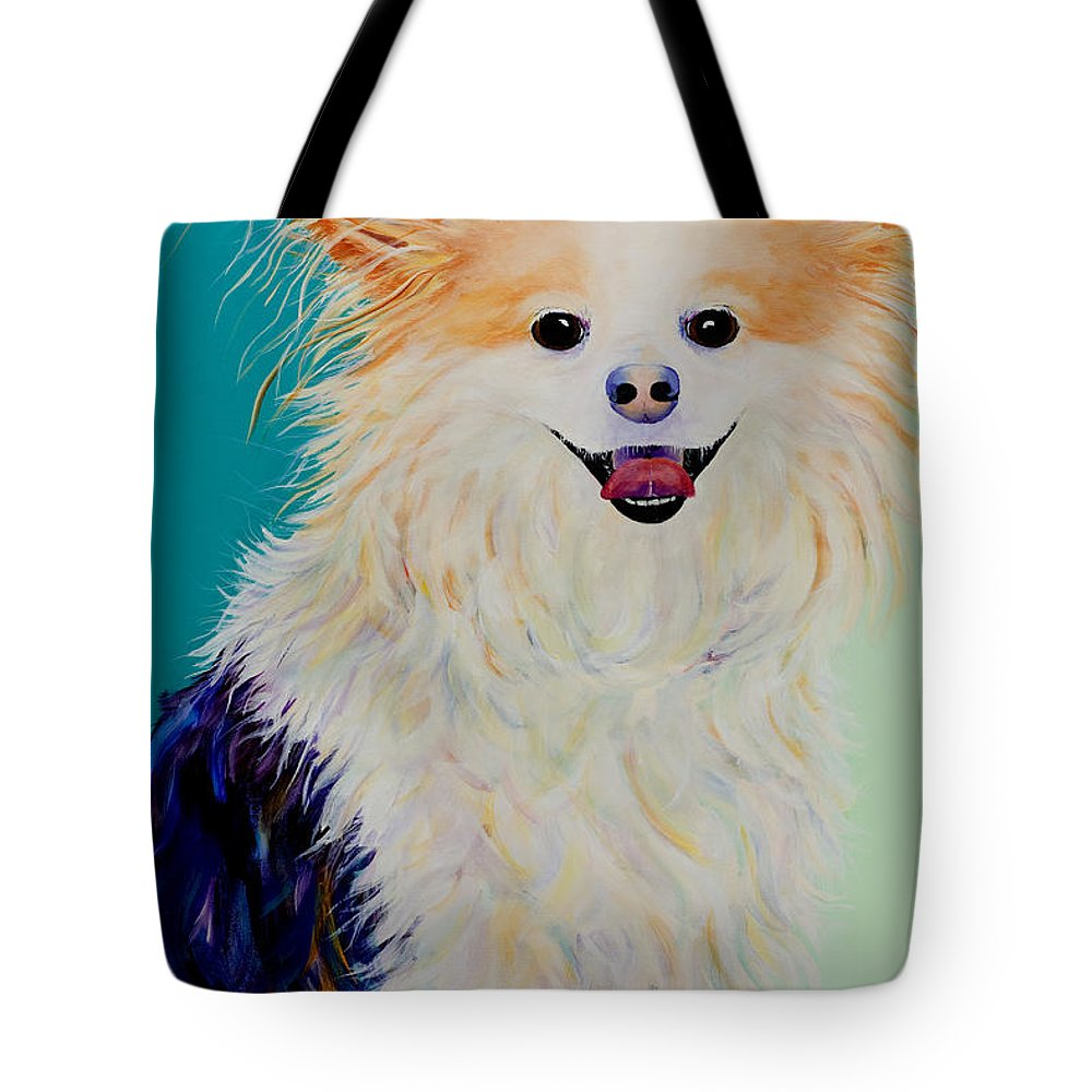 Animal Tote Bag featuring the painting Baxter by Pat Saunders-White