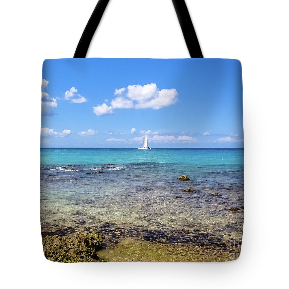 Dominican Republic Tote Bag featuring the photograph Bayahibe Coral Reef by Benny Marty