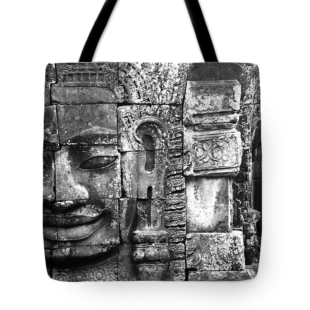 Bayon Temple Tote Bag featuring the photograph Bayon IIi by Patrick Klauss