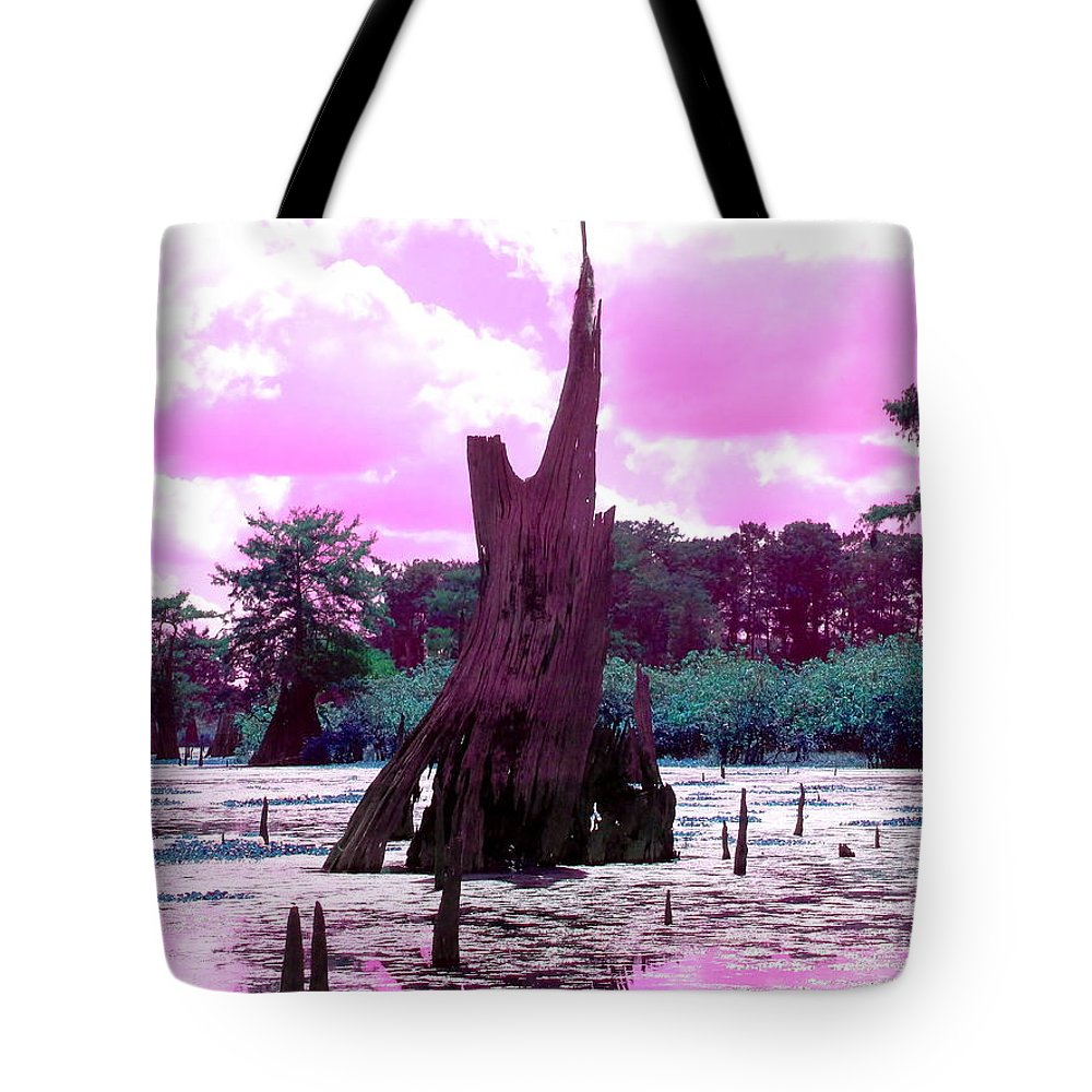 Bayou Tote Bag featuring the photograph Bayou Pink by Gina Welch