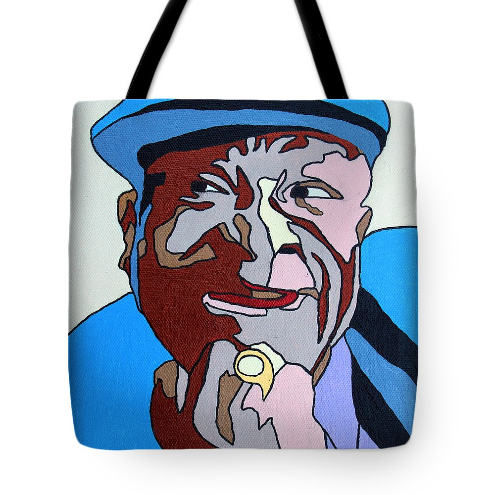 Bb King Tote Bag featuring the painting Bb King by Murray Stiller