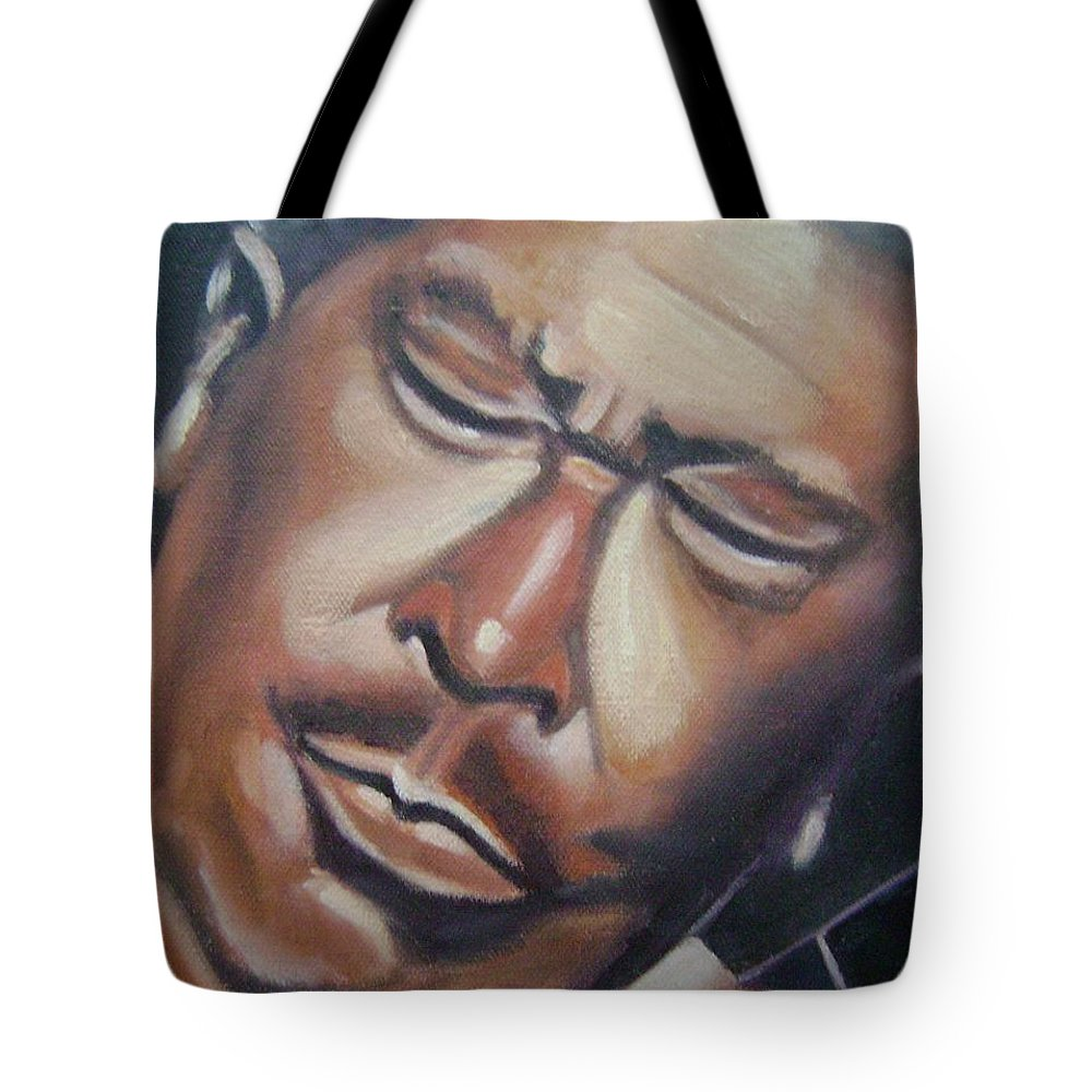 B.b. King Tote Bag featuring the painting B.b. King by Toni Berry