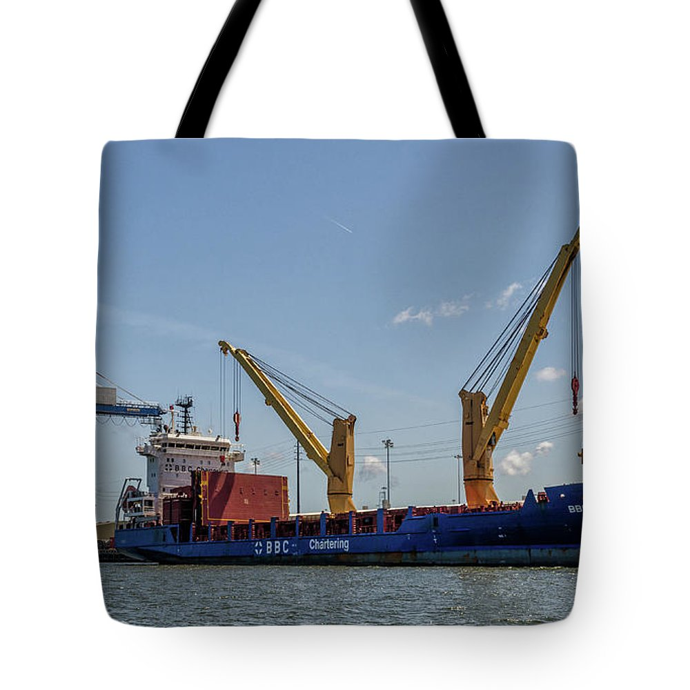 Bbc Chartering Tote Bag featuring the photograph Bbc Chartering by Dale Powell