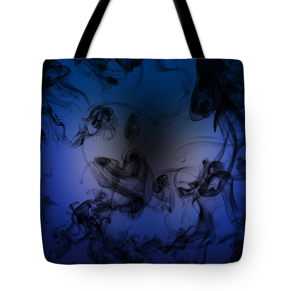 Black Tote Bag featuring the digital art Be Calm And Love Art by Jessica Holter