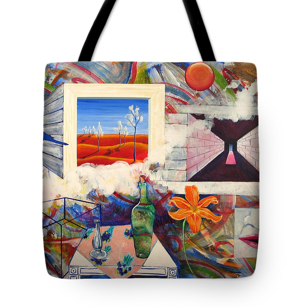 Landscape Tote Bag featuring the painting Be Here Now by Rollin Kocsis