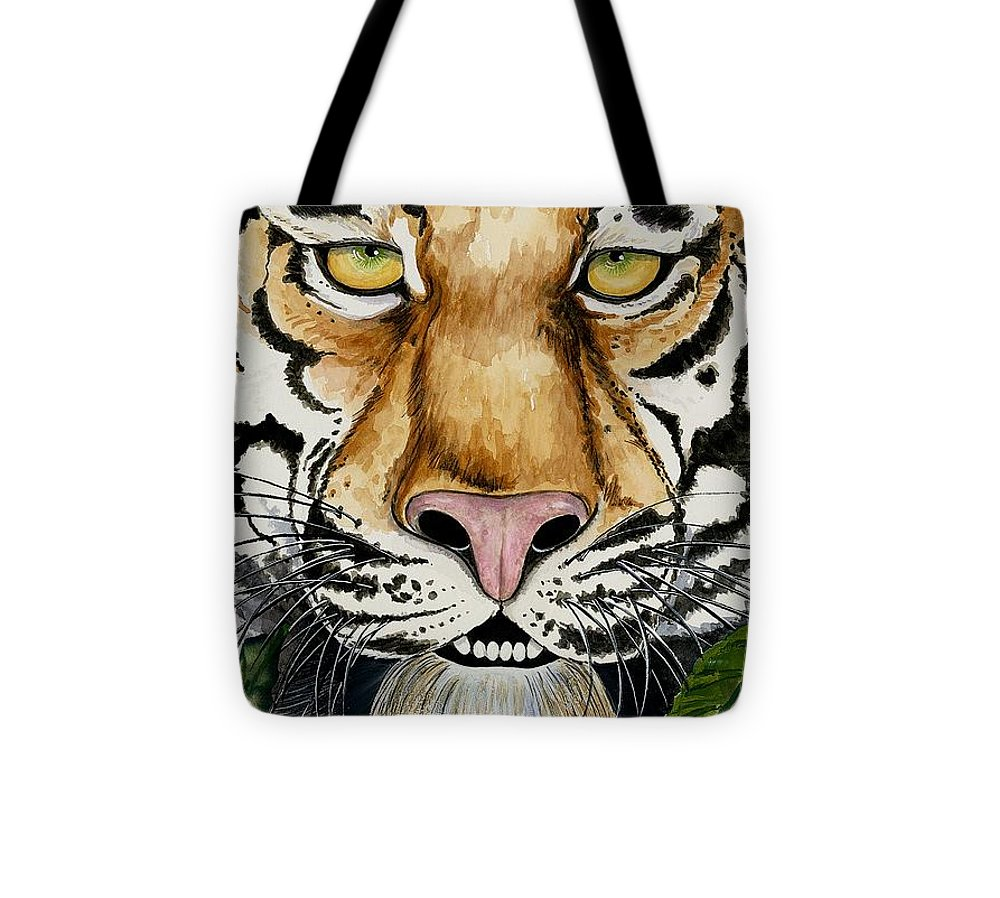 Art Tote Bag featuring the painting Be Like A Tiger by Carol Sabo