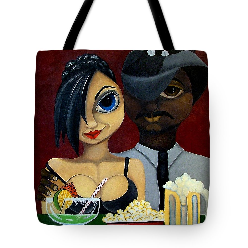 Sweethearts Tote Bag featuring the painting Be My Valentine by Elizabeth Lisy Figueroa