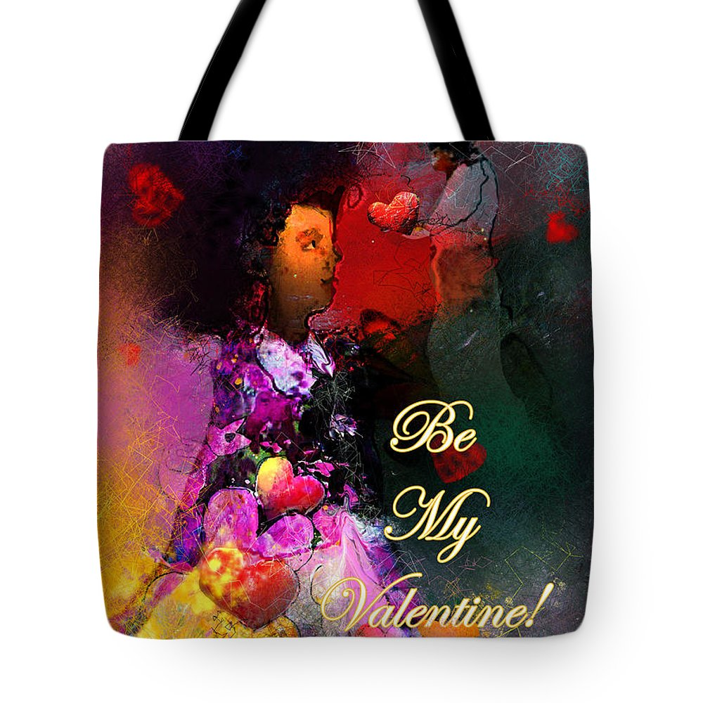 Love Tote Bag featuring the painting Be My Valentine by Miki De Goodaboom