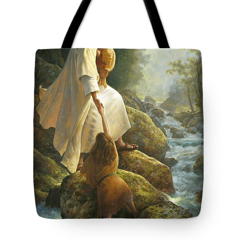 Jesus Tote Bag featuring the painting Be Not Afraid by Greg Olsen