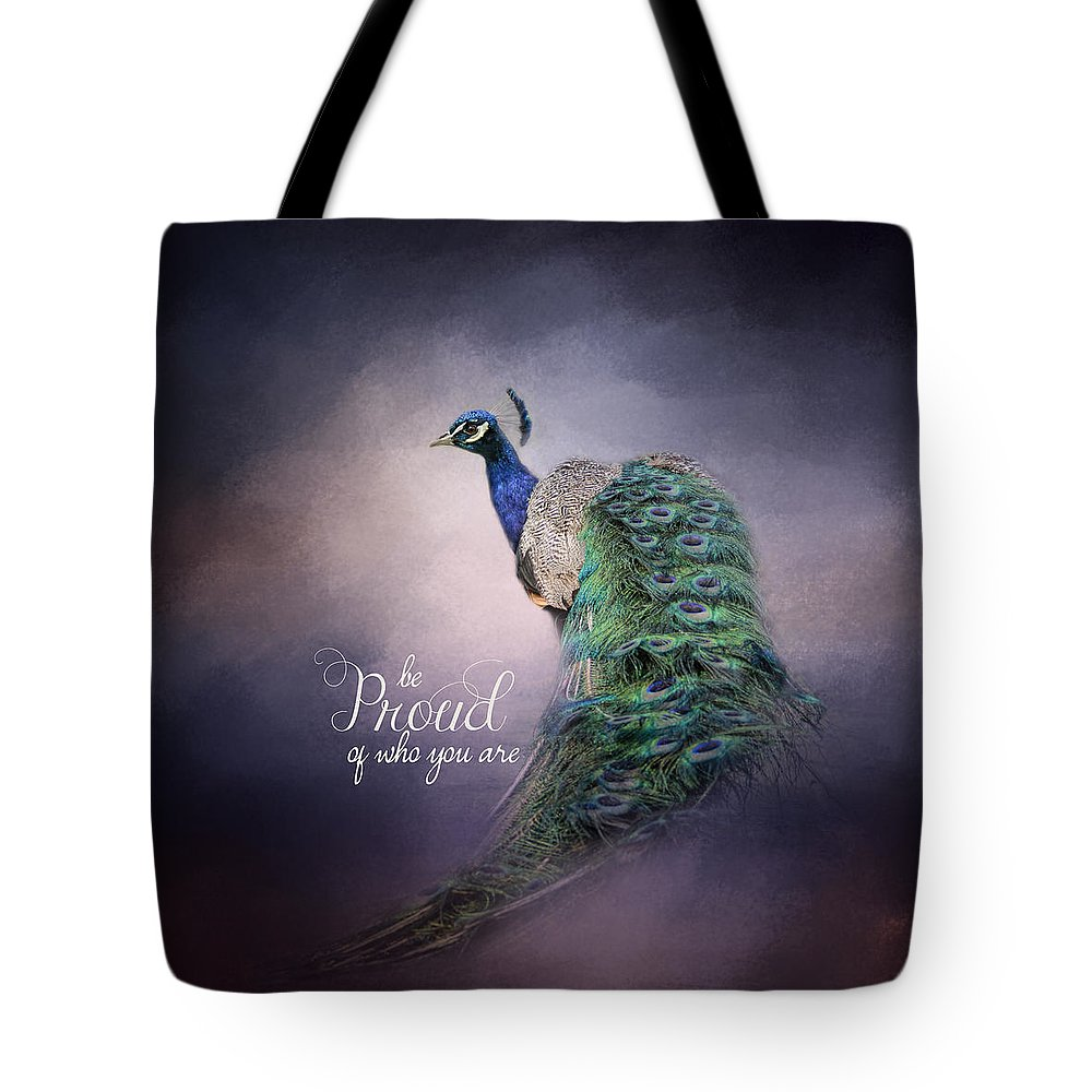 Jai Johnson Tote Bag featuring the photograph Be Proud - Peacock Art by Jai Johnson