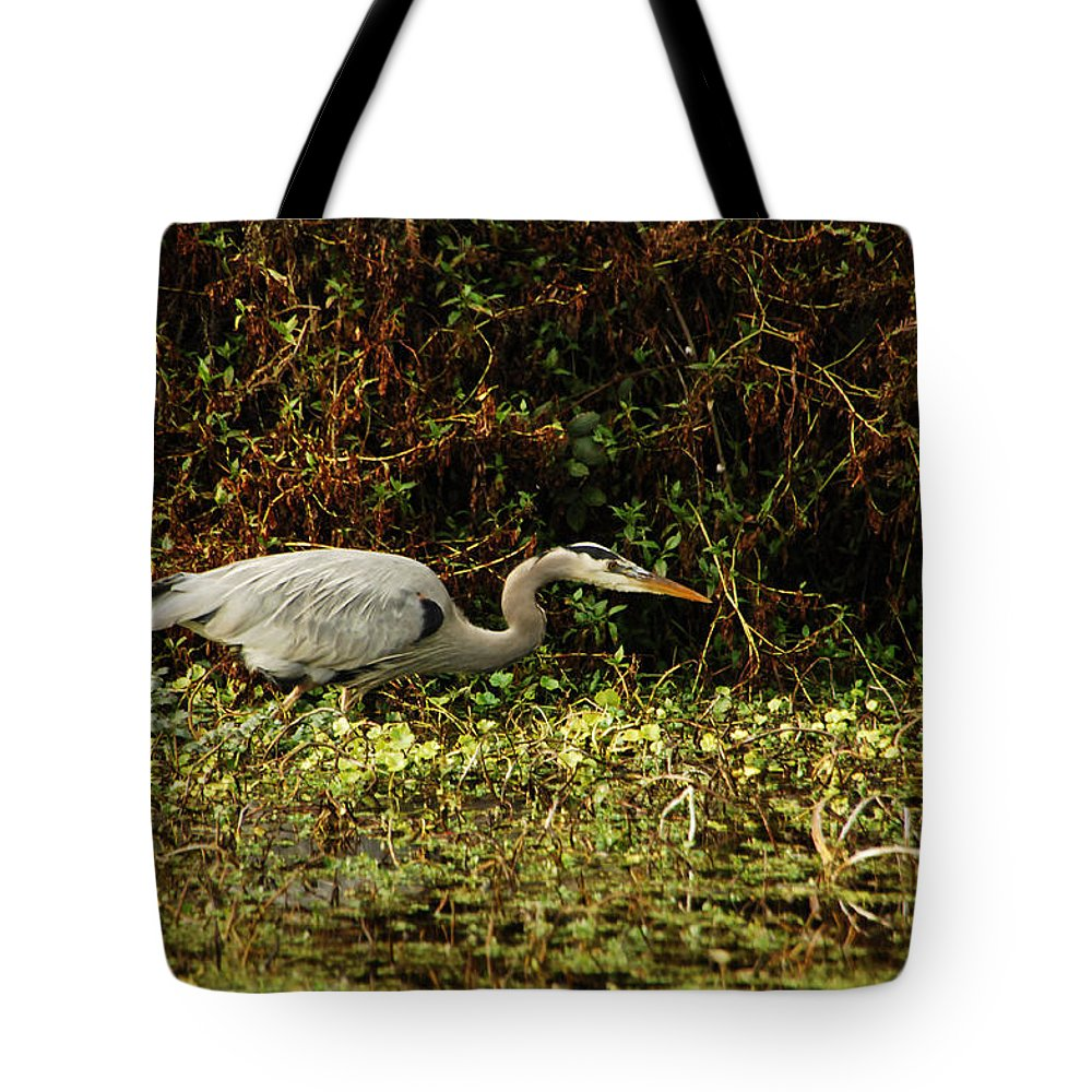 Heron Tote Bag featuring the photograph Be Wery Wery Quiet by Donna Blackhall