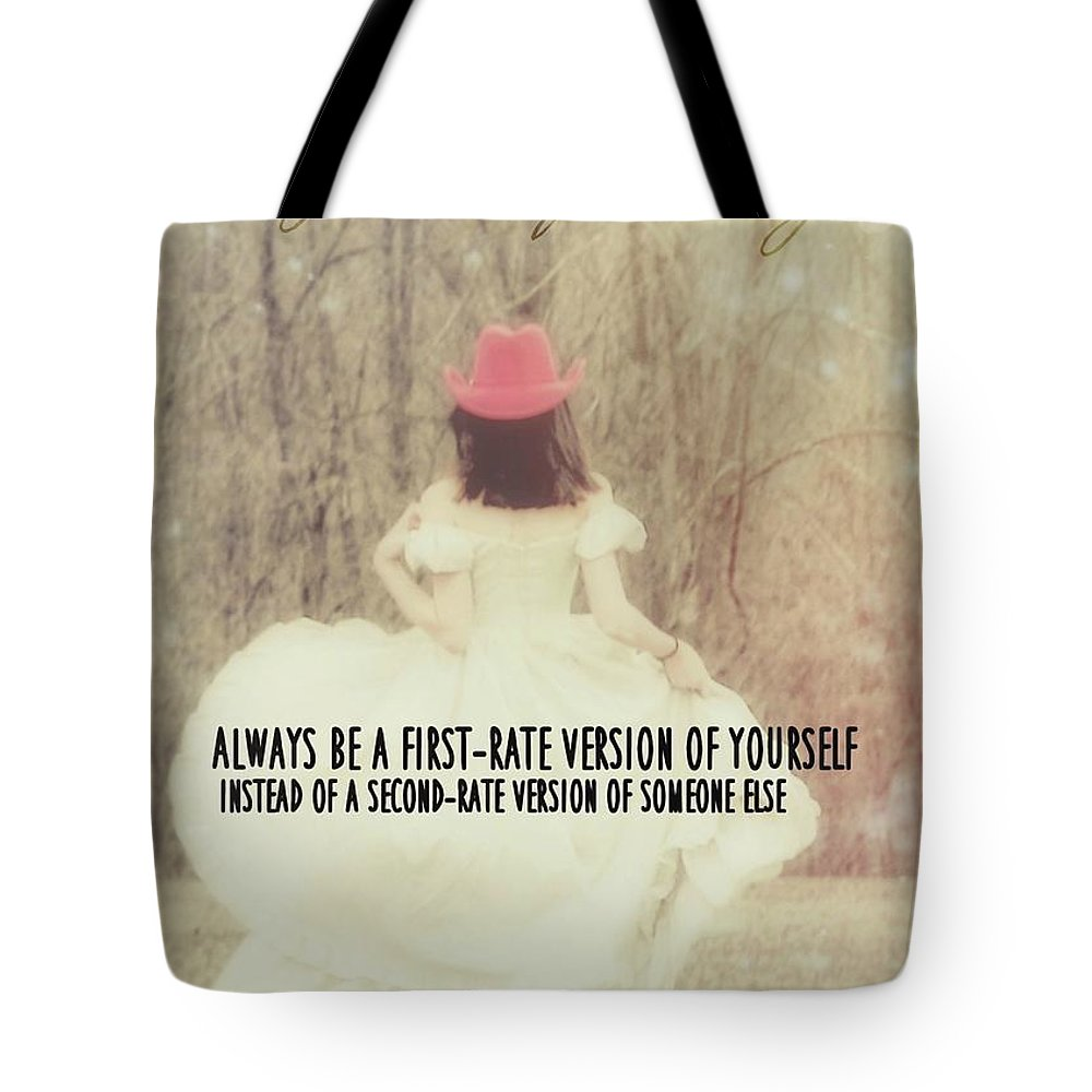 Girl Tote Bag featuring the photograph Be Yourself Quote by JAMART Photography