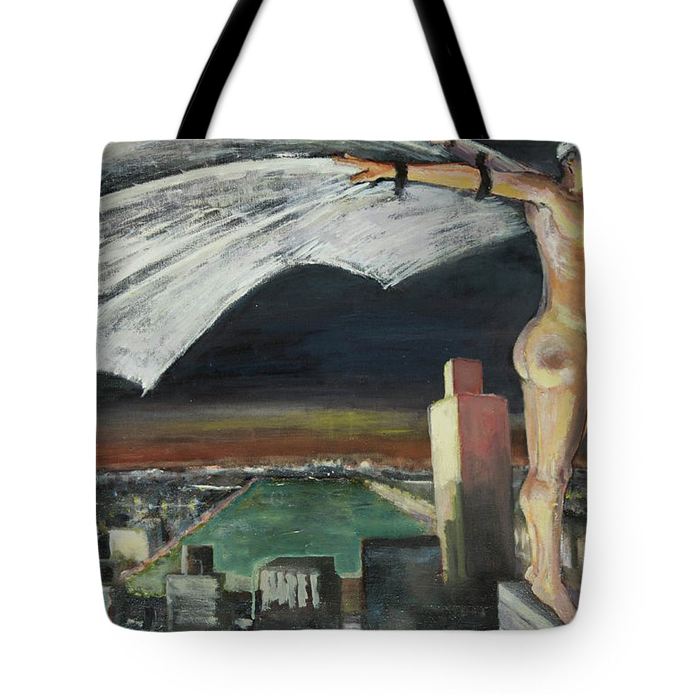 Superhero Tote Bag featuring the painting Be Yourself, Unless You Can Be A Superhero by Craig Newland