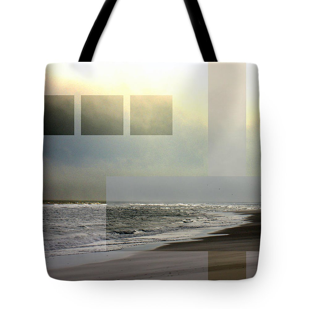 Beach Tote Bag featuring the photograph Beach Collage 2 by Steve Karol