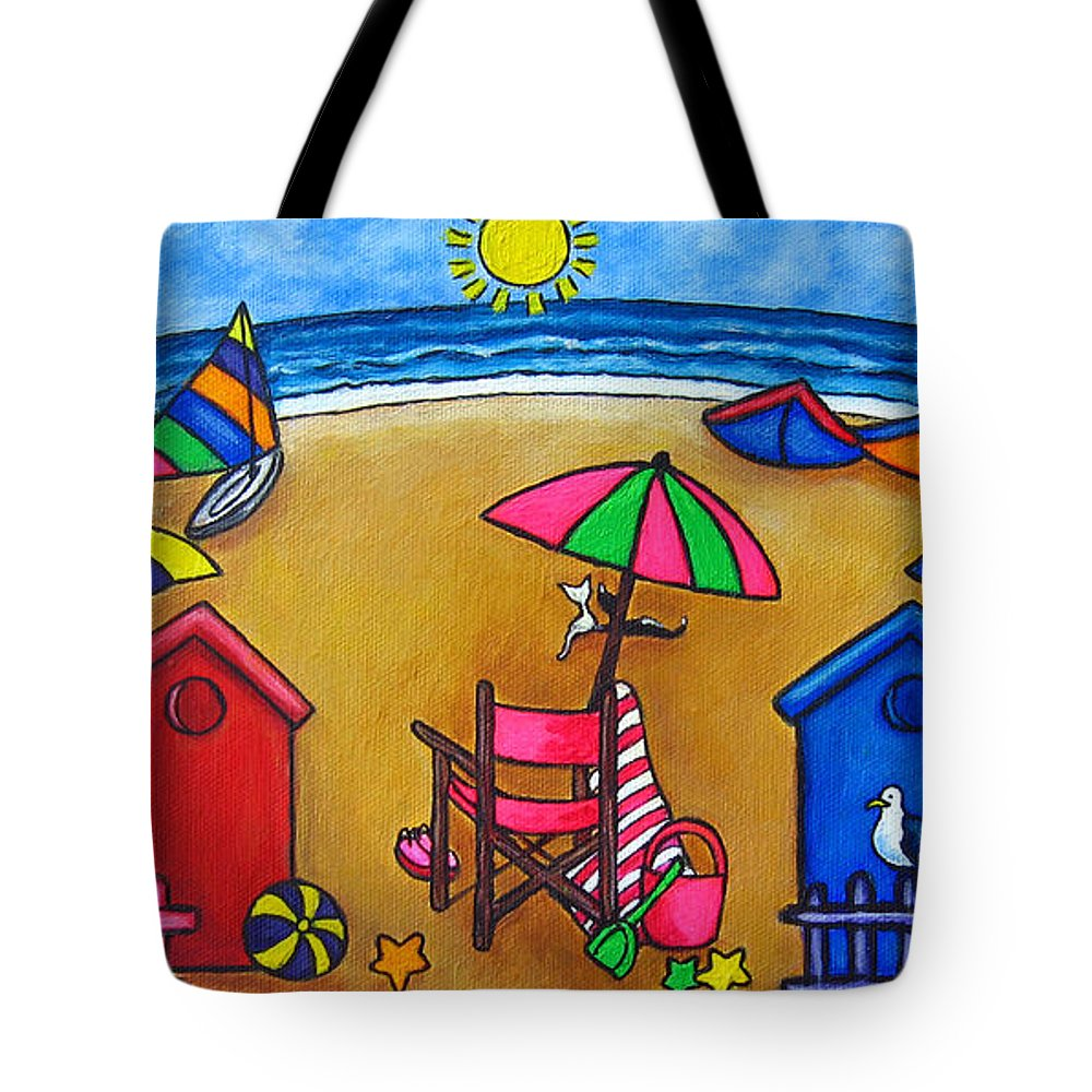 Beach Tote Bag featuring the painting Beach Colours by Lisa Lorenz