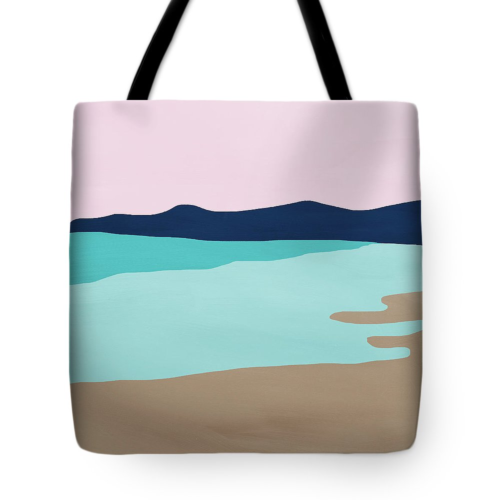 Beach Tote Bag featuring the mixed media Beach Cove- Art by Linda Woods by Linda Woods