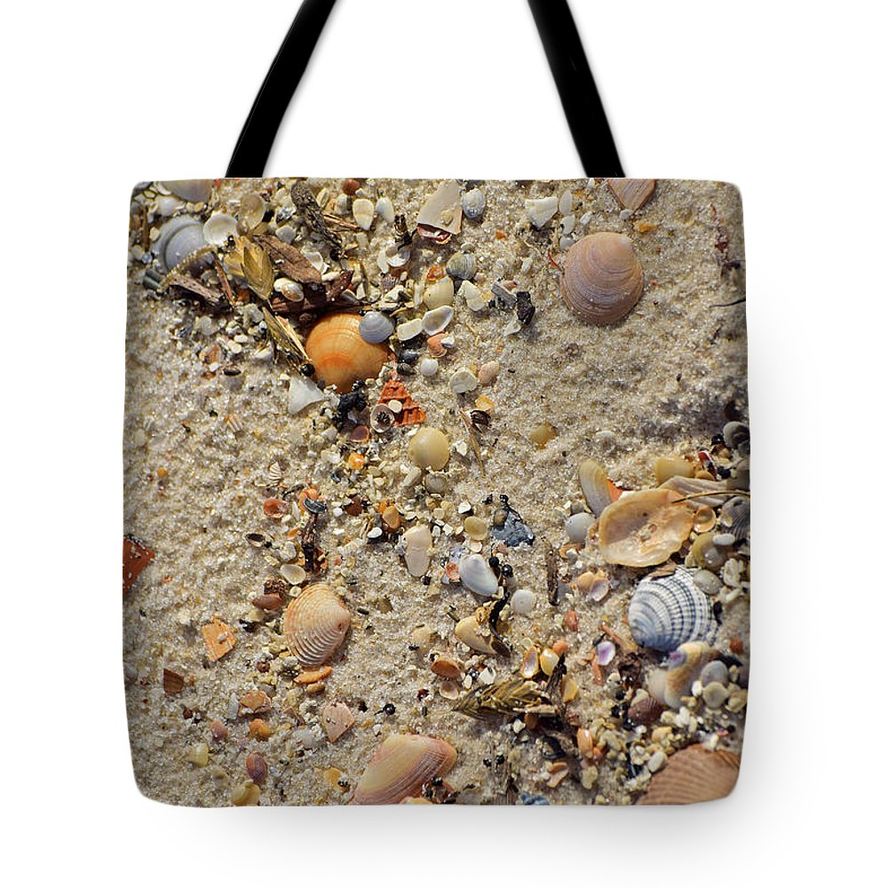 Seashells Tote Bag featuring the photograph Beach Deposit by Tim Sevcik