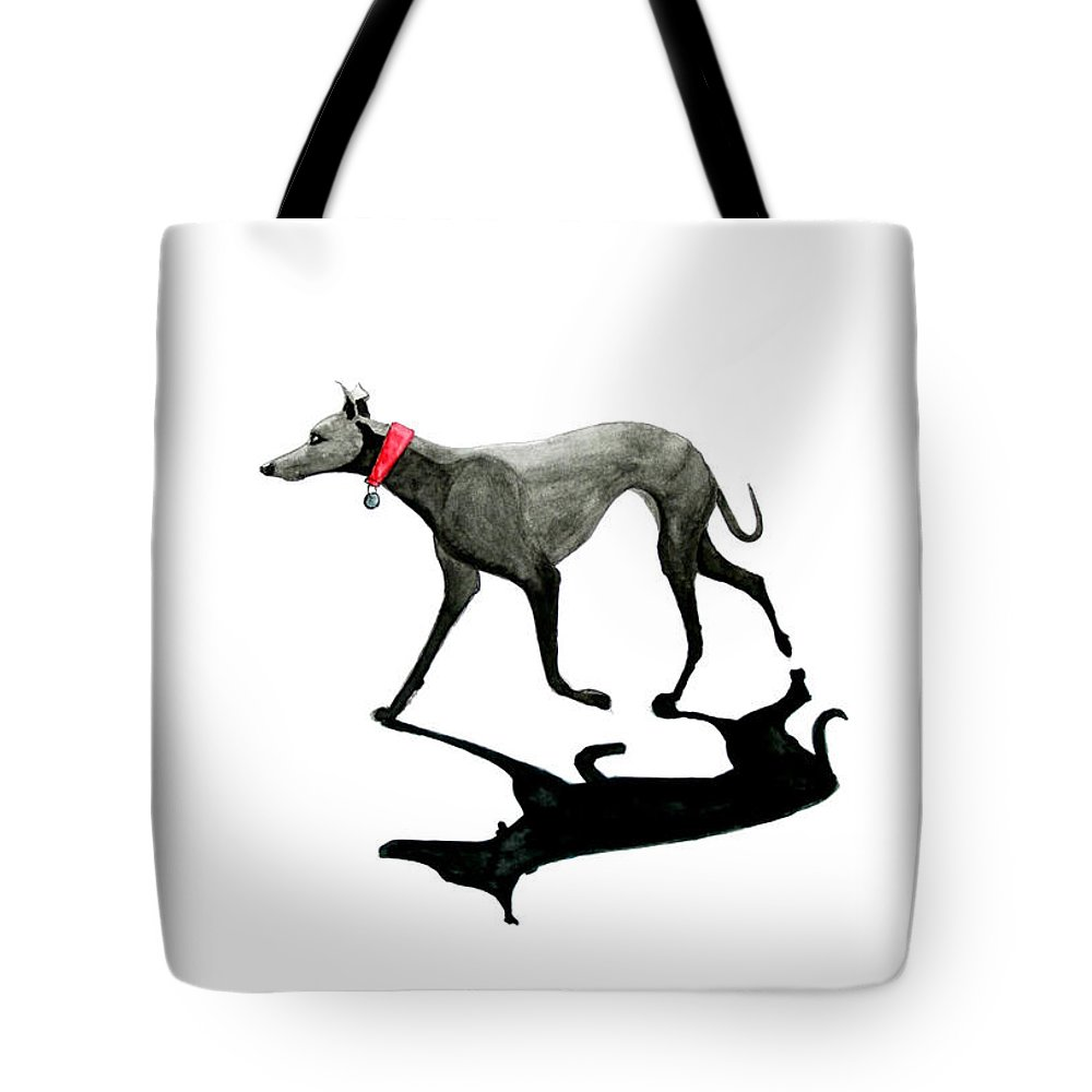 Dogs Tote Bag featuring the painting Beach Dog by Richard Williamson
