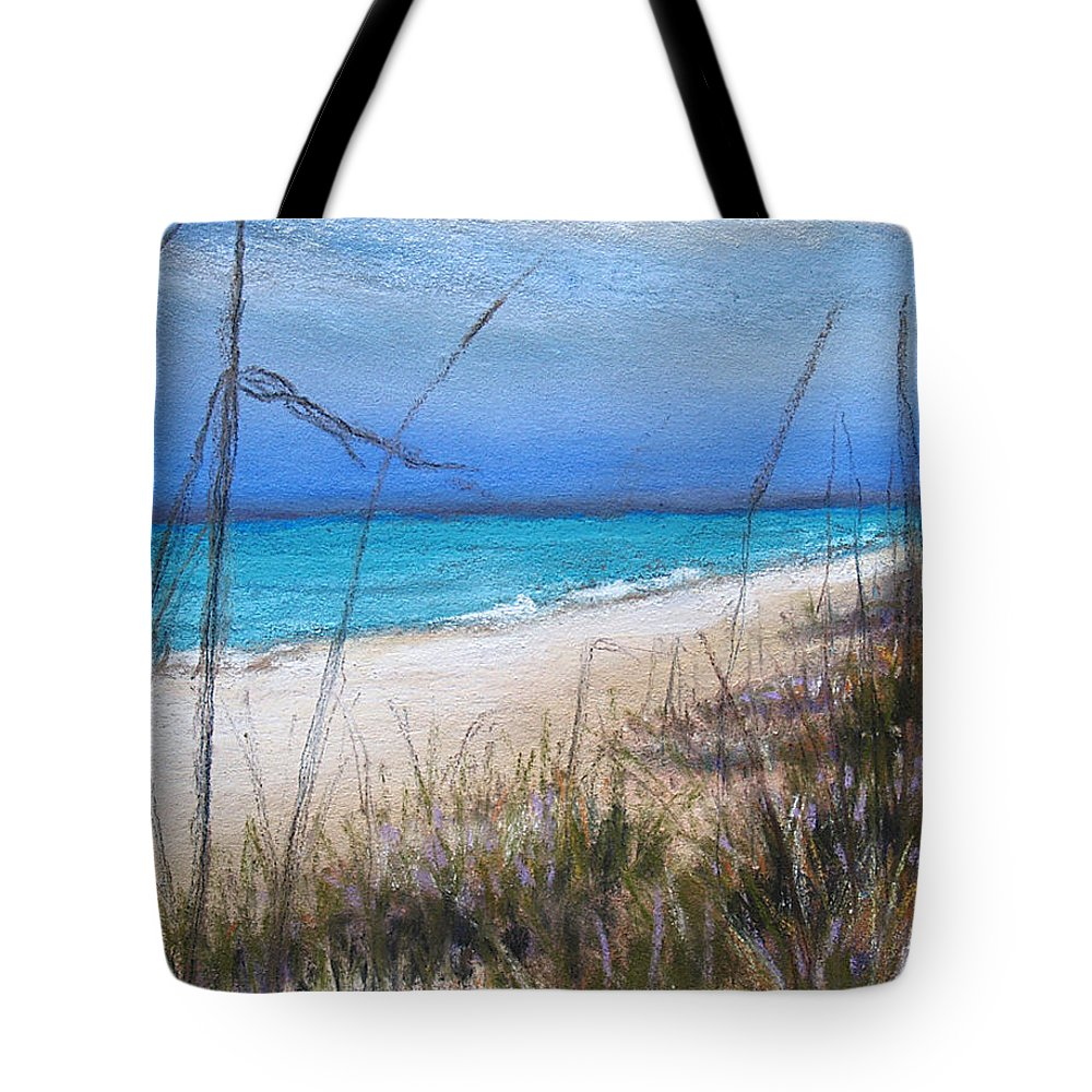 Beach Tote Bag featuring the pastel Beach Dreaming by Susan Jenkins