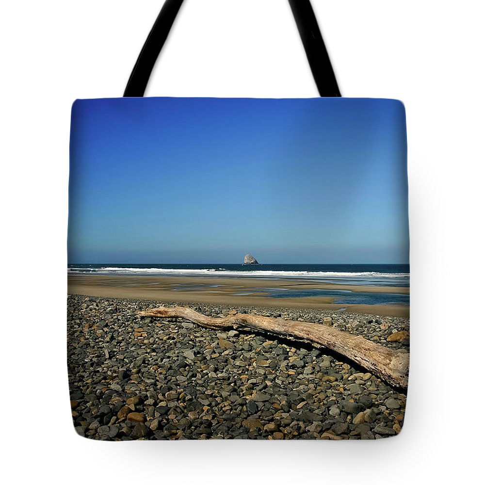 Driftwood Tote Bag featuring the photograph Beach Driftwood by Albert Seger