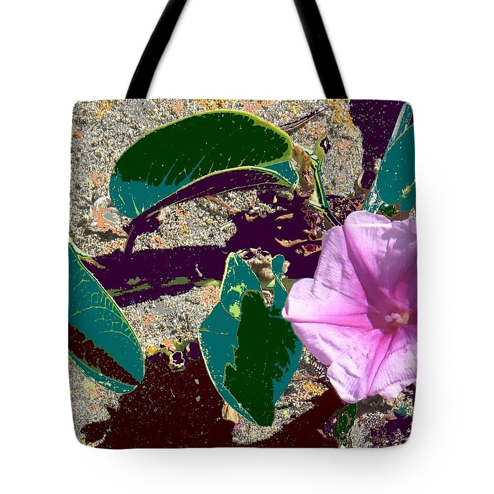 Beach Tote Bag featuring the photograph Beach Flower by Ian MacDonald