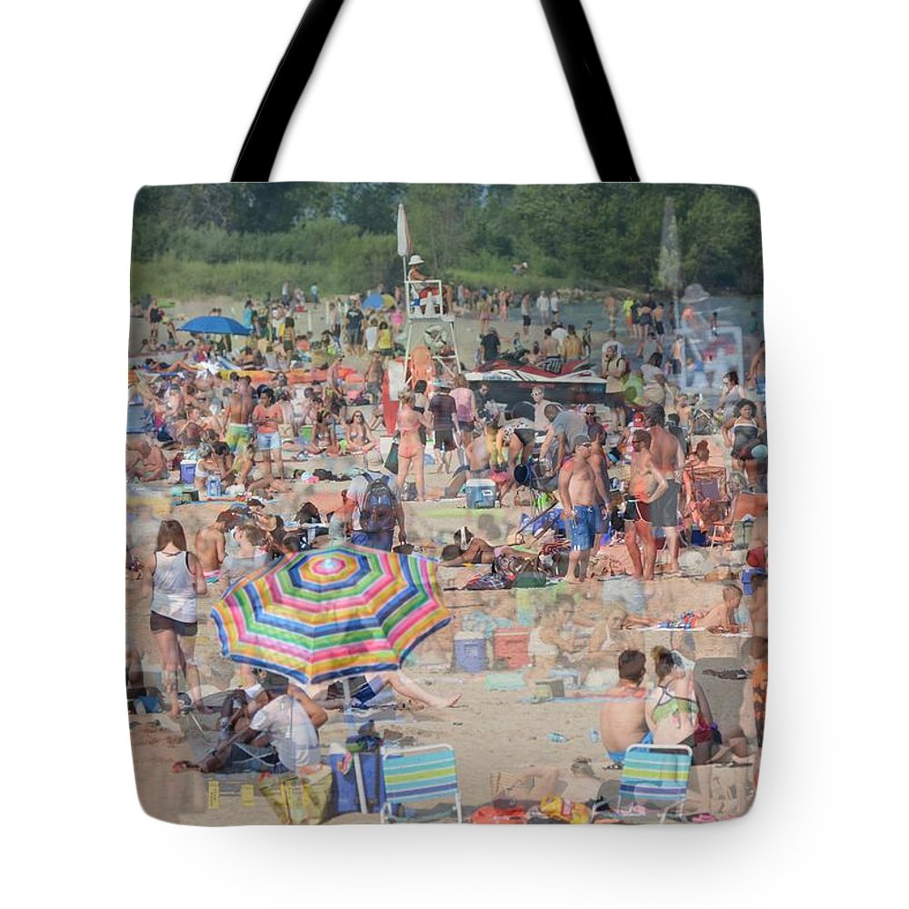 Beach Tote Bag featuring the photograph Beach Ghosts by Bill Ardern