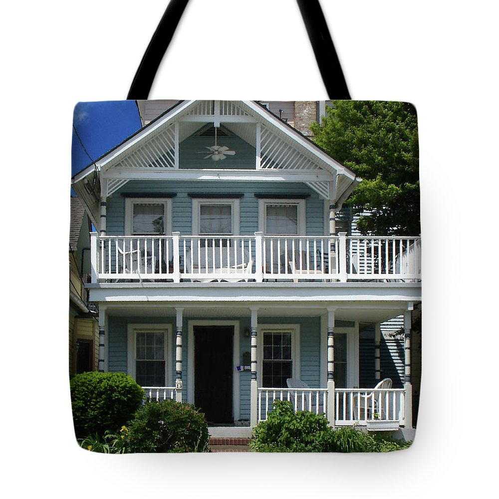 Victorian House Tote Bag featuring the photograph Beach House Panel 3 From Triptych by Steve Karol