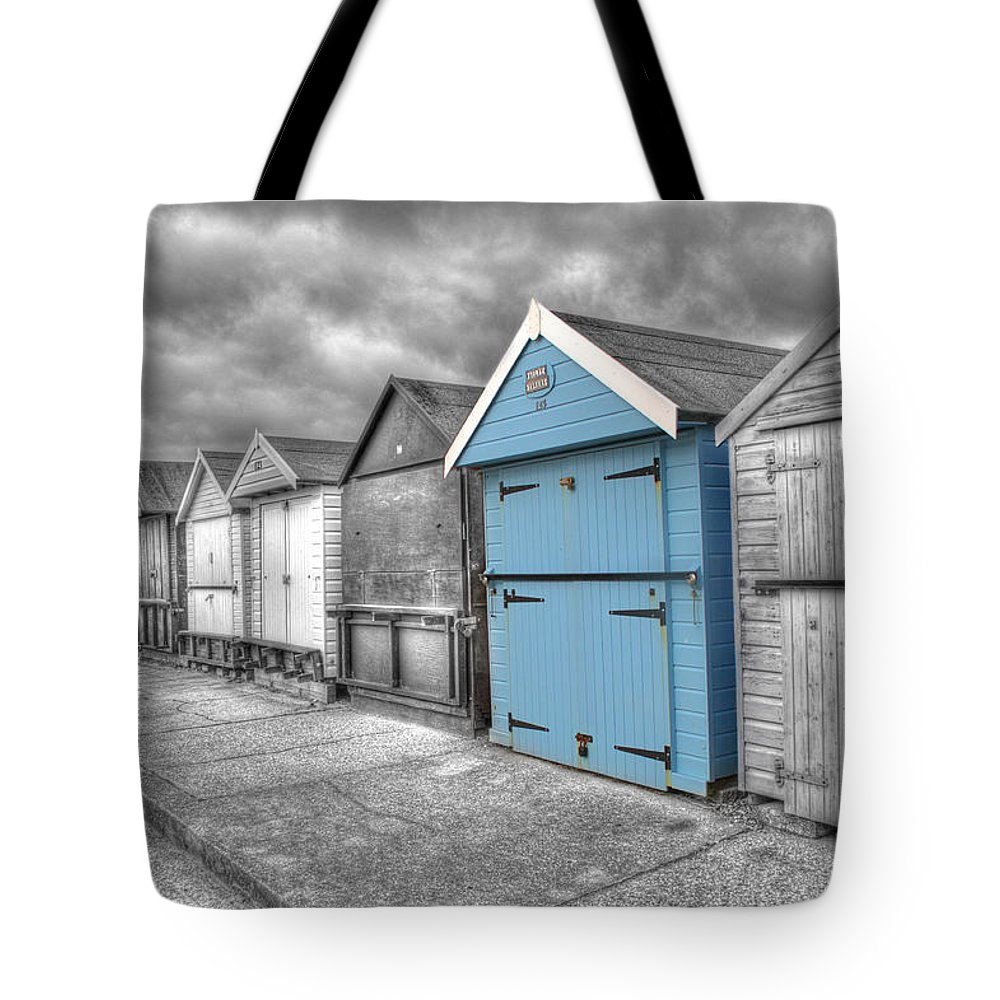 Beach Hut Tote Bag featuring the photograph Beach Hut In Isolation by Chris Day