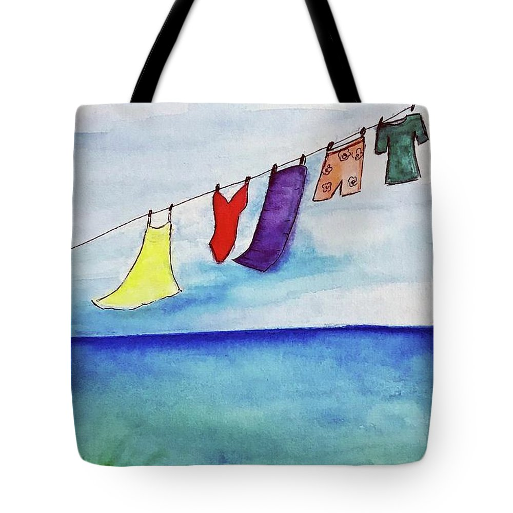 Beach Tote Bag featuring the painting Beach Life by Gail Nandlal