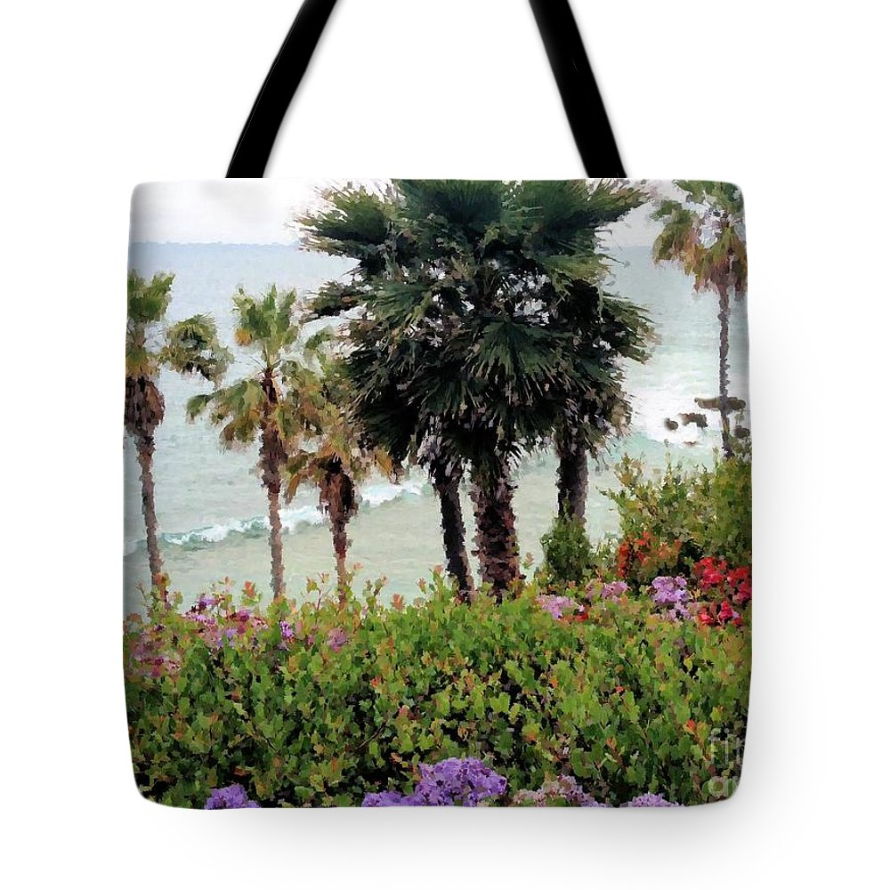 Ocean Art Tote Bag featuring the photograph Beach Living by Diana Chason