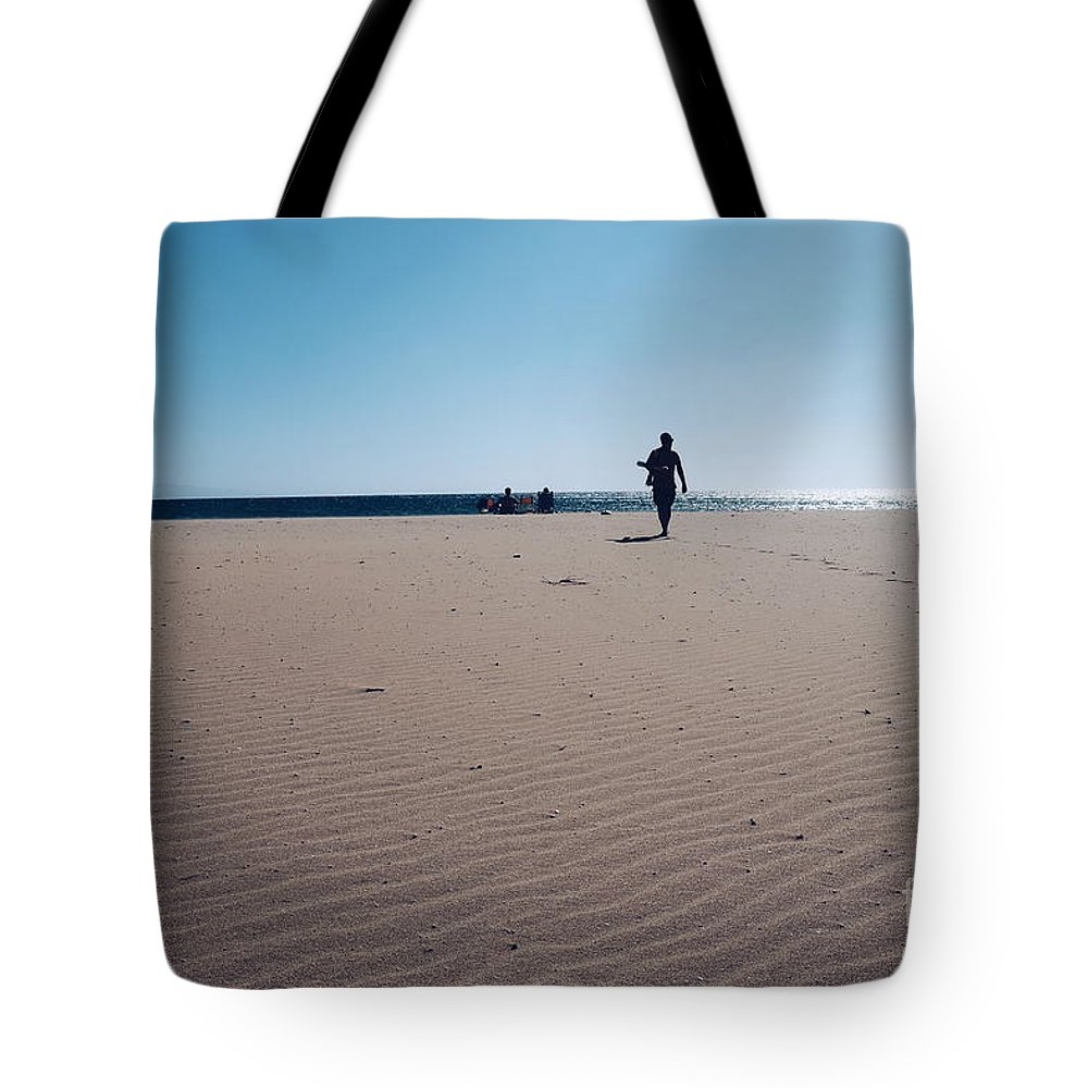Desert Tote Bag featuring the photograph Beach Or Desert by Konstantinos Katsouris