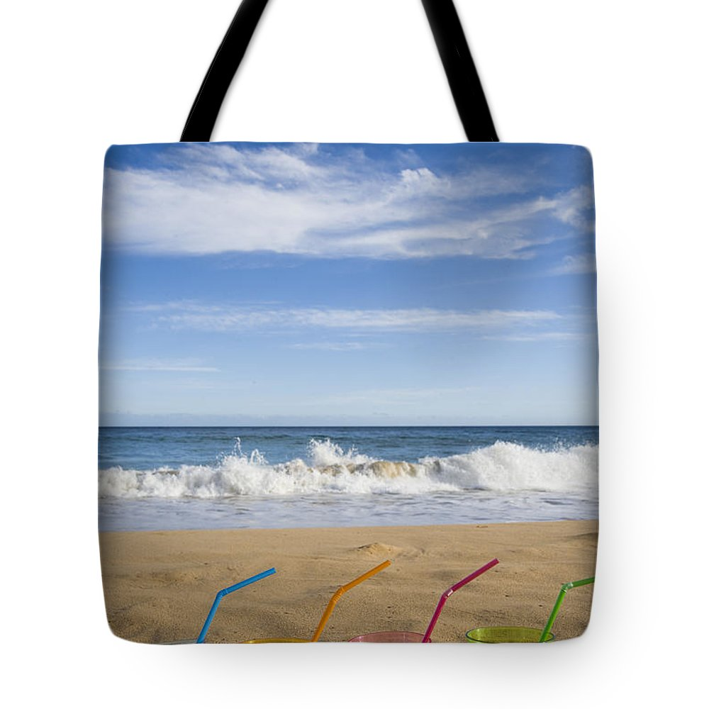 Color Tote Bag featuring the photograph Beach Party by Karen Ulvestad