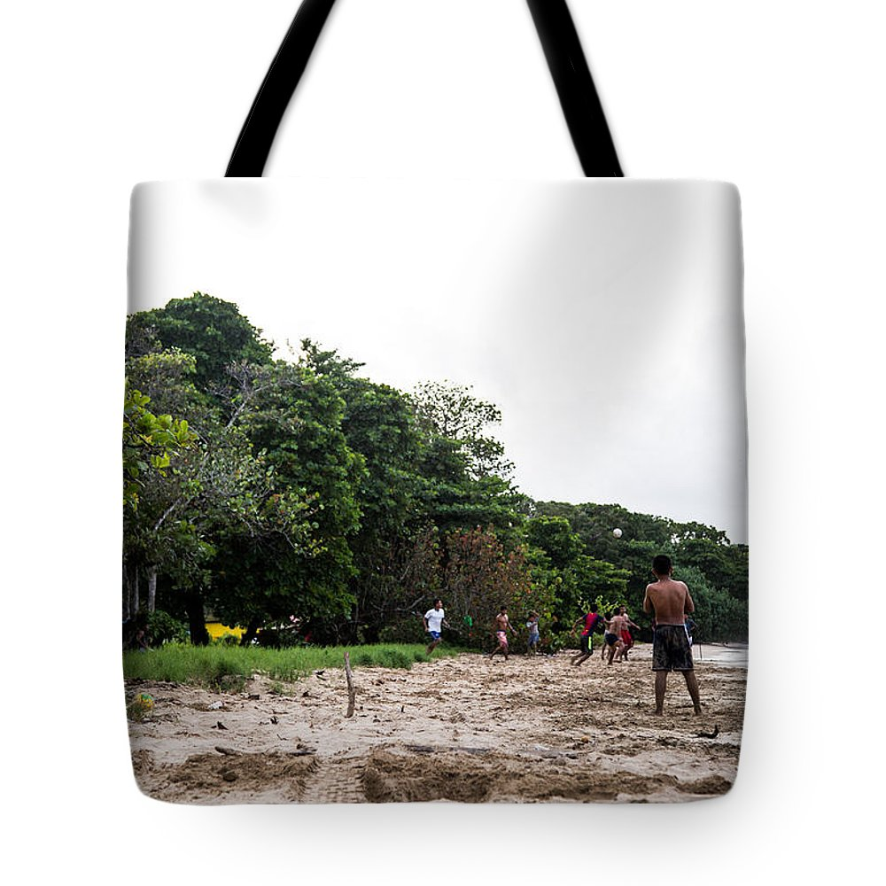 Beach Tote Bag featuring the photograph Beach Soccer 3 by Marc Levine