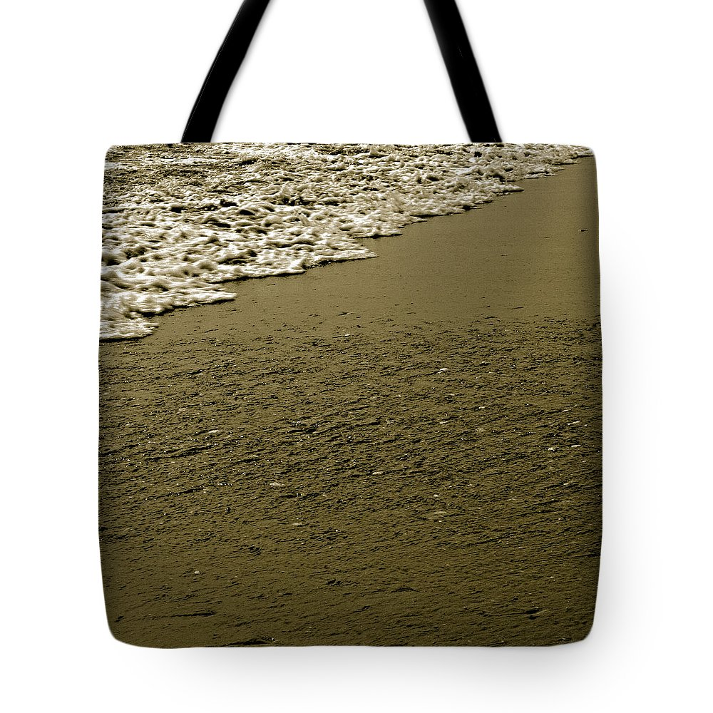 Water Tote Bag featuring the photograph Beach Texture by Jean Macaluso