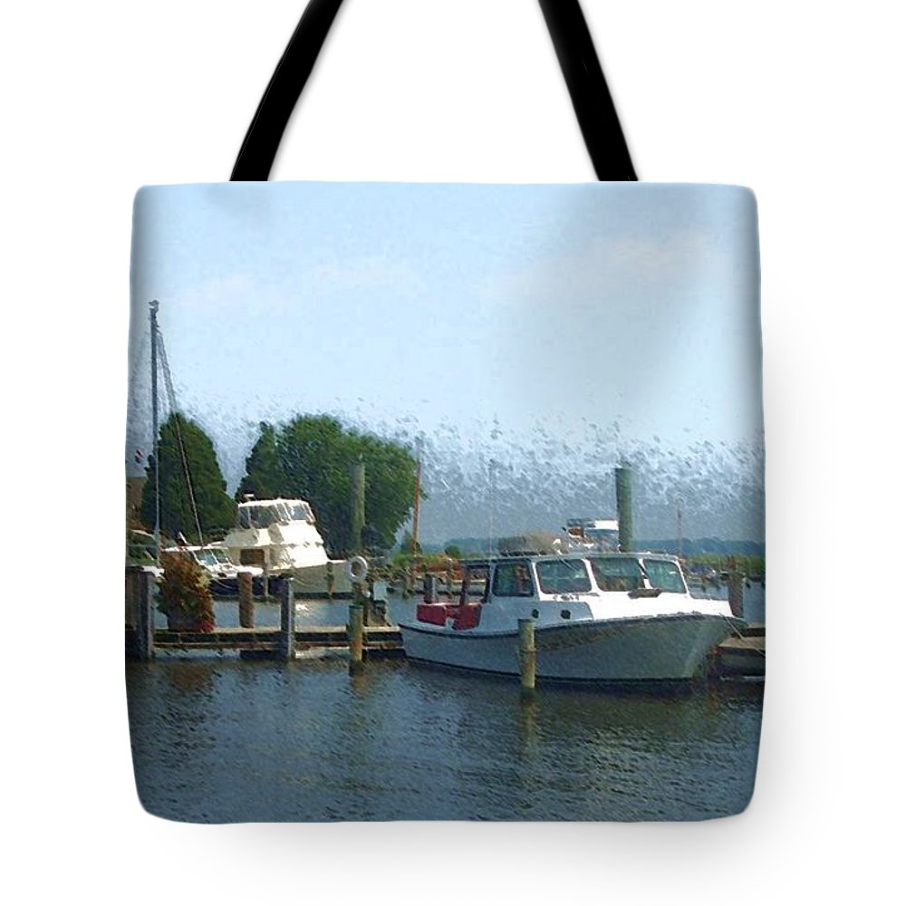 Boat Tote Bag featuring the photograph Beached Buoys by Debbi Granruth
