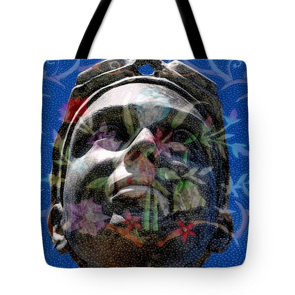 Girl Tote Bag featuring the digital art Beaded Girl by Derick Burke