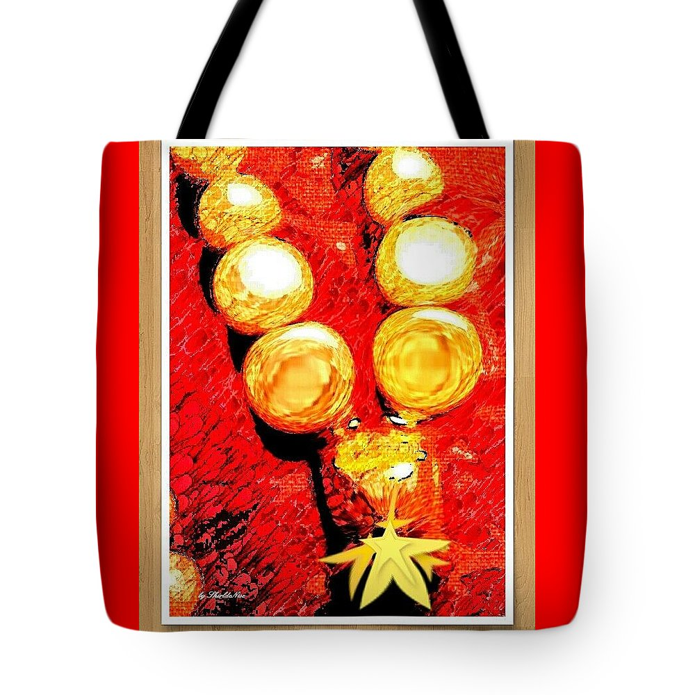 Beads Tote Bag featuring the mixed media Beads And Baubles by Shirl Denise Frisby