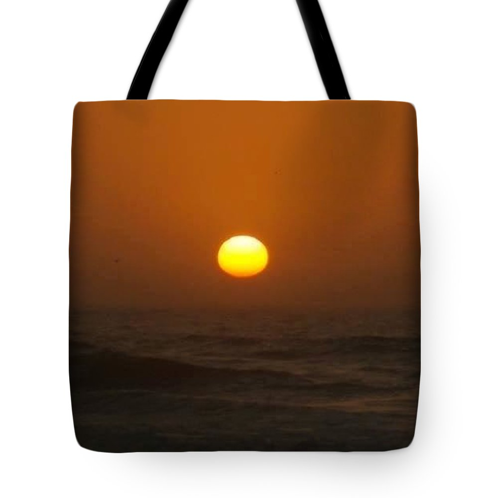 Artistry Tote Bag featuring the photograph Beams Across The Sea by Becky Haines
