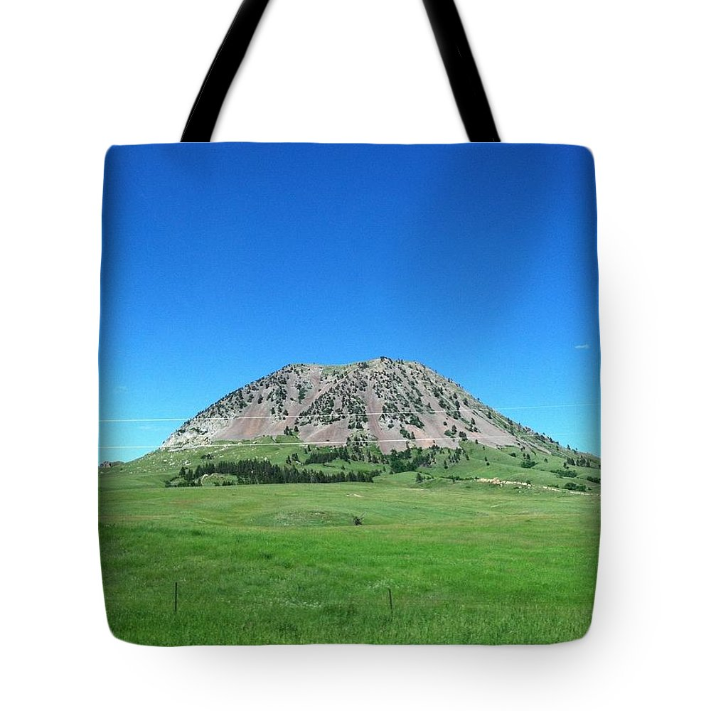 South Dakota Tote Bag featuring the photograph Bear Butte On Summer Day by Pamela Pursel