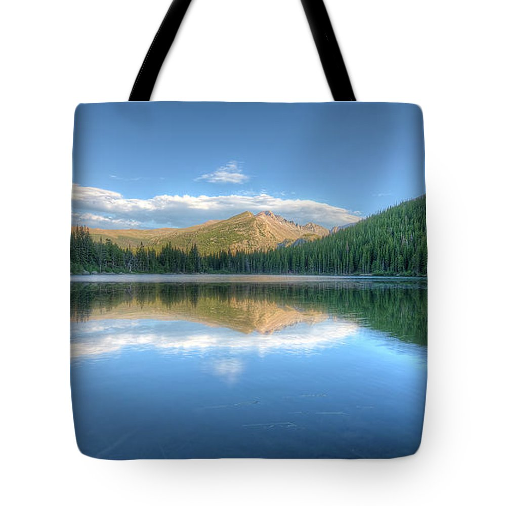 Bear Lake Tote Bag featuring the photograph Bear Lake In Rocky Mountain National Park 2x1 by Twenty Two West Photography