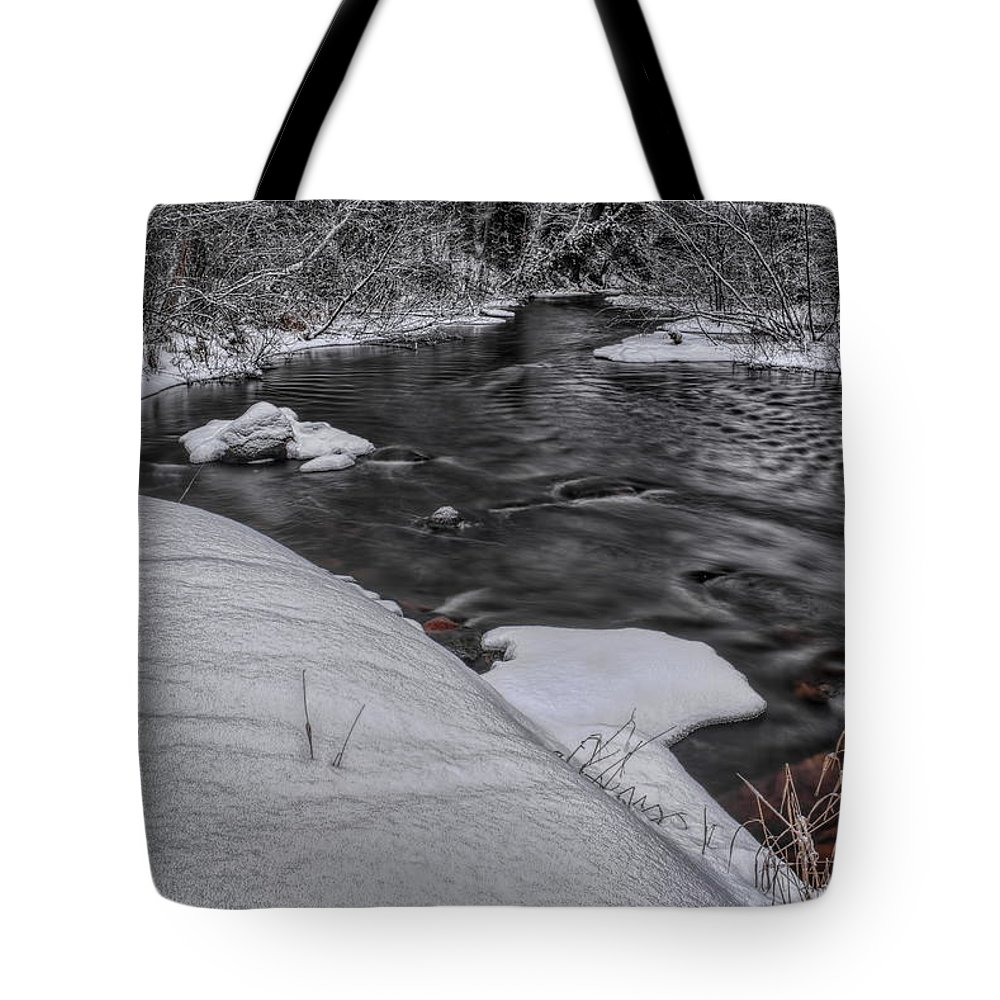 Dale Kauzlaric Tote Bag featuring the photograph Bearskin Creek Riffles by Dale Kauzlaric