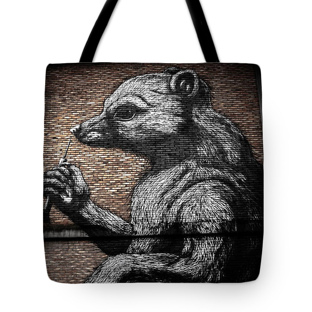 Street Tote Bag featuring the photograph Memory In Spray by OnOff