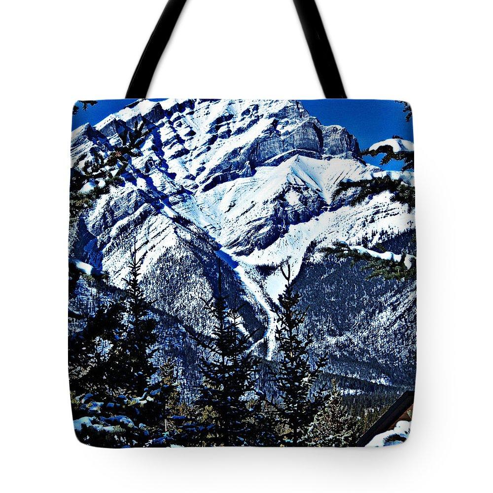 Banff Tote Bag featuring the photograph Beautiful Banff by Jo-Anne Gazo-McKim