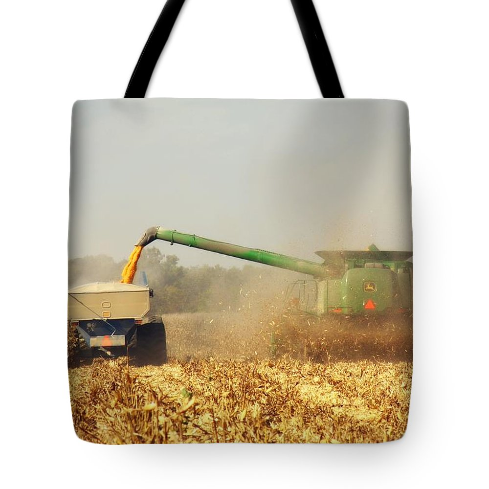 Corn Harvest Tote Bag featuring the photograph Beautiful Corn Harvest by Goldie Pierce